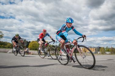 Skandinavian Race bilder. Foto från cyckeltävling i Uppsala
